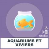 Base SMS aquariums et viviers