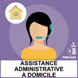 Base SMS assistantes administratives à domicile