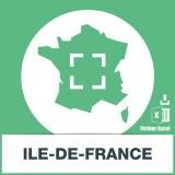 Base SMS sur la région Ile de France