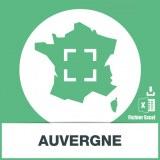 Base SMS sur la région Auvergne