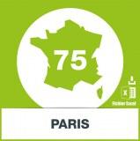 Base SMS département Paris 75