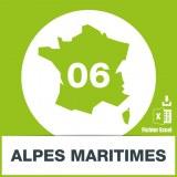 Base SMS département Alpes Maritimes 06
