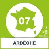 Base SMS département Ardèche 07