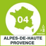 Base SMS département Alpes Haute-Provence 04