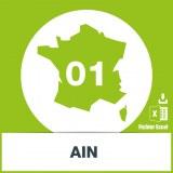 Base SMS département Ain 01