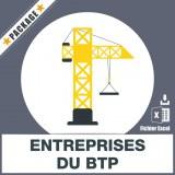 Base SMS entreprises du BTP