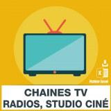 Base SMS télévision radio cinéma