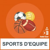 Base SMS sports d'équipe