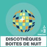 Base SMS discothèques boites de nuit