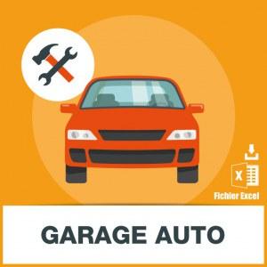 Base SMS des garages automobiles