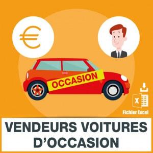 Base SMS vendeurs voitures d'occasion