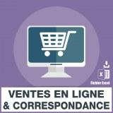 Base SMS vente en ligne correspondance